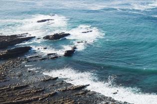 La playa rocosa