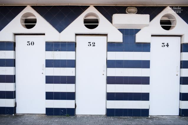 Casetas de la playa de Luanco